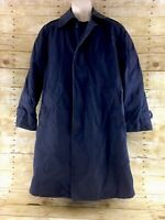 Air Force All Weather Trench Coat 36S Navy Blue AF 1600 Removable Liner Military