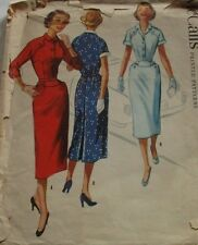 Vintage McCall's 1950's Pattern 3464 Misses' Dress Size 18 Bust 36 Waist 30 FF