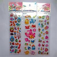 5pcs/Lot Bubble Stickers 3D Cartoon KIds Classic Toys Sticker School Reward UB
