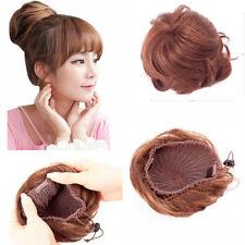 100% Human Hair Braided Hair Bun Extensions Clip-on Updo Hair Pieces Only $9.99