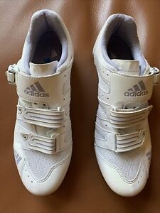 Adidas Womens Road Bike Cycle Shoes EUR 40 USA 8.5 w/ Cleats SPD SL Look White