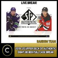2019-20 UPPER DECK SP AUTHENTIC 8 BOX (FULL CASE) BREAK #H762 - RANDOM TEAMS