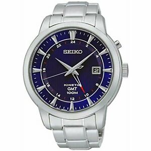 Seiko Men's Kinetic Powered GMT Dual Time Watch SUN031P1