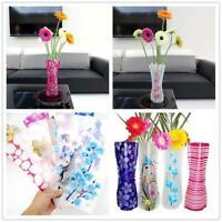 Reusable 10 PCS Plastic PVC Unbreakable Flower Vase Foldable Home Decor Bottle