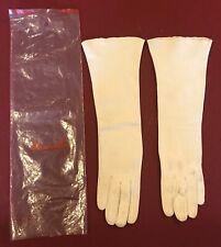 Vintage Leather Gloves Dawnelle 3/4 Length Women's Size 6 White