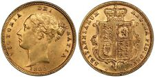 More details for 1883 gold half sovereign ngc ms62 victoria shield great britain