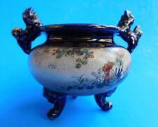 Lovely Antique Satsuma Pottery Vase Censer Pot Signed Meiji 1900s