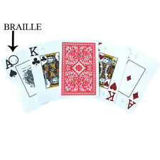 Royal Plastic Braille Playing Cards for the Blind - Poker Size Red Deck
