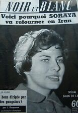 IRAN SORAYA en COUVERTURE de NOIR et BLANC No 761 DE 1959 SPORT BOXE par DESPAUX