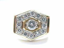 Fine Men's Round Cut Diamond Yellow Gold Jewelry Ring 14KT 1.02CT