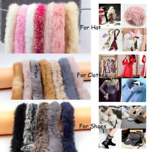 1M Faux Fur Strap Trimming Fluffy Furry Sewing DIY Craft for Shoe Coat Hat Bag