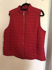 SPORTSCRAFT bright red Puffer vest jacket zip sz16  pockets