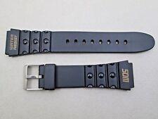 20mm lug size black rubber watch band strap fits men's Timex