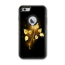 Skin Decal for Otterbox Defender iPhone 6 PLUS Case / Gold Rose glowing