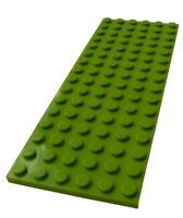 Lego 2 Stück limette Platte 6x16 (3027) Platten in lime Bauplatte Basics Neu