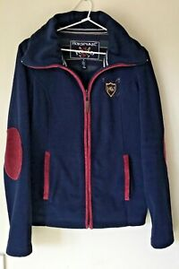 Horseware Polo size M mans or ladies zip front navy blue warm fleece jacket, EC