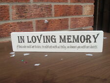 shabby & chic wedding vintage in loving memory free standing top table sign