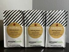 AmazonFresh Hazelnut Flavored Coffee, Ground, Medium Roast, 12 Ounce , 3 Pack