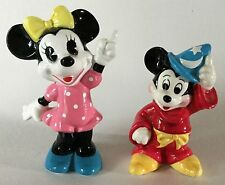 Walt Disney Ceramic Porcelain Minnie & Mickey Mouse Pottery Figurine