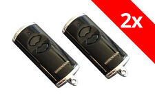 2 x Hörmann Handsender HSE2BS HSE 2 868,3 Mhz BiSecur schwarz hochglanz 436754