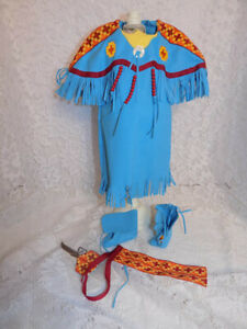 American Girl Kaya Doll Outfit Shoes Pow Wow Dress Comb