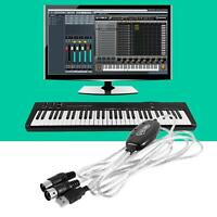 MIDI to USB Interface Cable Adapter for Keyboard Electronic Drum Music Create GA