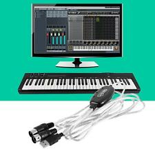 MIDI to USB Interface Cable Adapter for Keyboard Electronic Drum Music Create WT