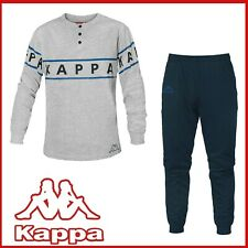 Pigiama UOMO KAPPA cotone 100% manica lunga fantasia tuta homewear M L XL XXL