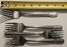 4 PIECE ONIEDA 18/8 CORBEL PATTERN SMALL DINNER FORK SET STAINLESS SALAD FORKS
