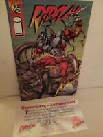Image Comics Wizard Presents RIPCLAW 1995 #1/2 with COA TOP COW
