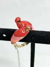 Kate Spade Out of Office Pink Parrot Ring Size 7 w/Dust Bag