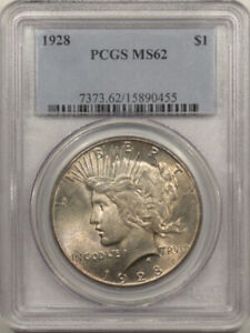 1928 PEACE DOLLAR - PCGS MS-62