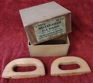 "2 Vintage V-6 Heller Vixen Wood Handle  ""Rasp""  New in Box Auto/Body Tools ? NOS"