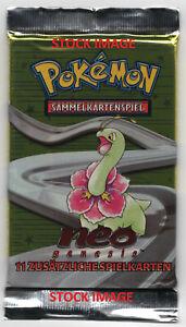 MEGANIUM Pokemon GERMAN NEO GENESIS BOOSTER PACK - UNLIMITED - FACTORY SEALED