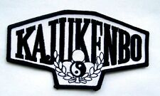 "KAJUKENBO KARATE PATCH JUDO MARTIAL ARTS ADVERTISING UNIFORM 4 7/8"" x  2 1/2"""