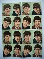 1964 Oversized Beatles Photo Card Lot...No Promo Fan Club Postcard Pin Shrink