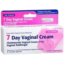 CLOTRIMAZOLE Vaginal Antifungal Cream, 7 Day Treatment