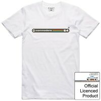 Commodore 64 T Shirt Officially Licenced Vintage 8 Bit Computer Case Badge Logo