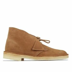 Men's Clarks Originals Lace up Leather and Suede Upper Desert Boots in Brown