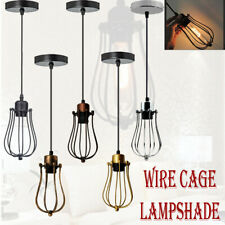 Wire Frame Ceiling Vintage Industrial Style Metal Cage Pendant Light Lamp Shades