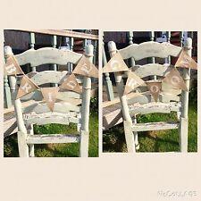 ❤️ BRIDE & GROOM Mini Wedding Chair Bunting Hessian Burlap Banner Vintage ❤️