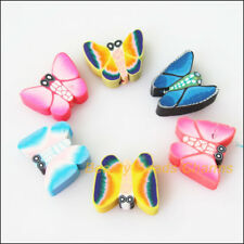12 New Charms Polymer Fimo Clay Animal Butterfly Spacer Beads Mixed 13x15mm