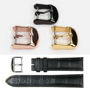 1Pc Stainless Steel Wristwatch Band Pin Buckle DIY Watch Strap Clasp 10-22mm