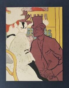 """Toulouse-Lautrec """"L'Anglais au Moulin-Rouge """"Original Lithograph 1950 rare"""