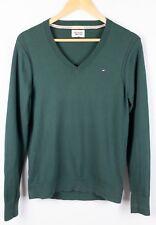 8afe6c56 Tommy Hilfiger Denim Men Jumper Cotton Nylon Elastane Green V Neck size M