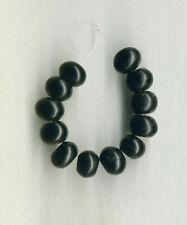 """TIBETAN JET (LIGNITE) 10MM RONDELLE BEADS - 3.75"""" Strand - 0298"""