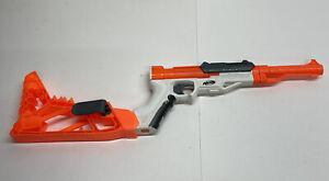 Nerf N-Strike SHARPFIRE BLASTER Orange and White with handle, stock & Barrel