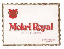 Algeria - Wine Label - Gay Freres, Oran - Mokri Royal