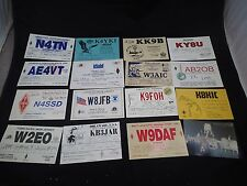 Lot of 16 Different Vintage Ham amateur radio Call Cards QSL QSO Postcards #17