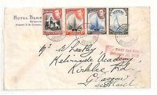 AT2 1938 Bermuda *HAMILTON* Cover FDC Glasgow Scotland {samwells-covers}PTS